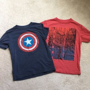 Old Navy Captain America & Spider-Man Tees Youth S
